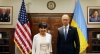 Secretary Pritzker and Ukraine Prime Minister Arseniy Yatsenyuk posed before their official meeting began.