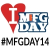 2014 National Manufacturing Day logo and hashtag
