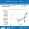 U.S. Census Bureau Graphic Showing Change in Population of 25 Most Populous Atlantic and Gulf Coastline Counties: 2000-2015