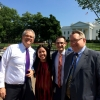 Deputy Press Secretary Katarina Mayers joins Deputy Secretary Bruce Andrews and two other Commerce staffers at a meeting at the White House