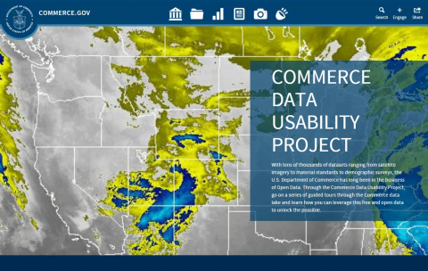 Image of Commerce Data Usability Project (CDUP) Homepage