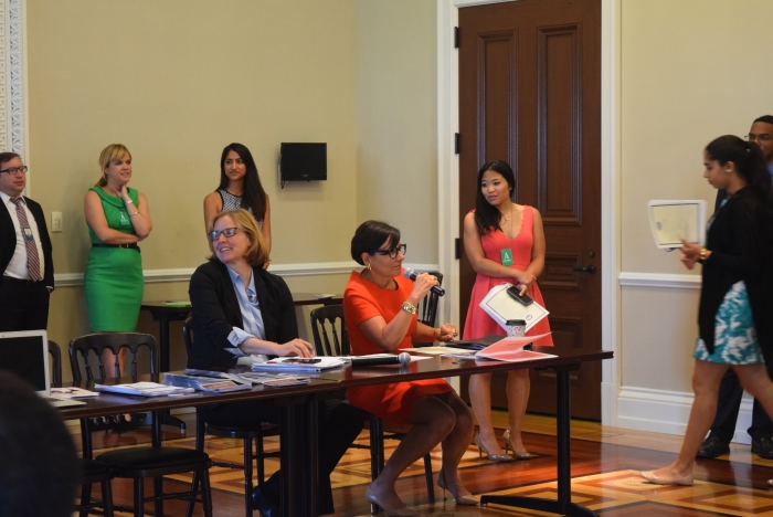 Secretary Pritzker Attends White House Hack the Pay Gap Demo Day