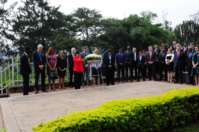 Secretary Pritzker and PAC-DBIA members visit the Gisozi Genocide Memorial in Rwanda