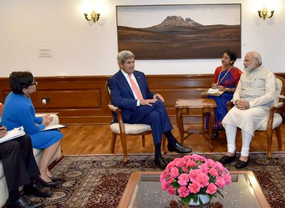 Secretary Pritzker Secretary Kerry and PM Modi