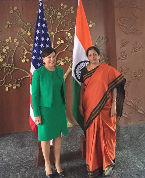 Secretary Pritzker and India Minister of Commerce and Industry Nirmala Sitharaman