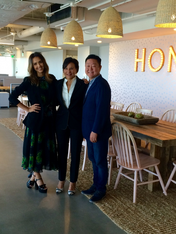Secretary Pritzker with Jessica Alba and CEO Brian Lee at The Honest Company