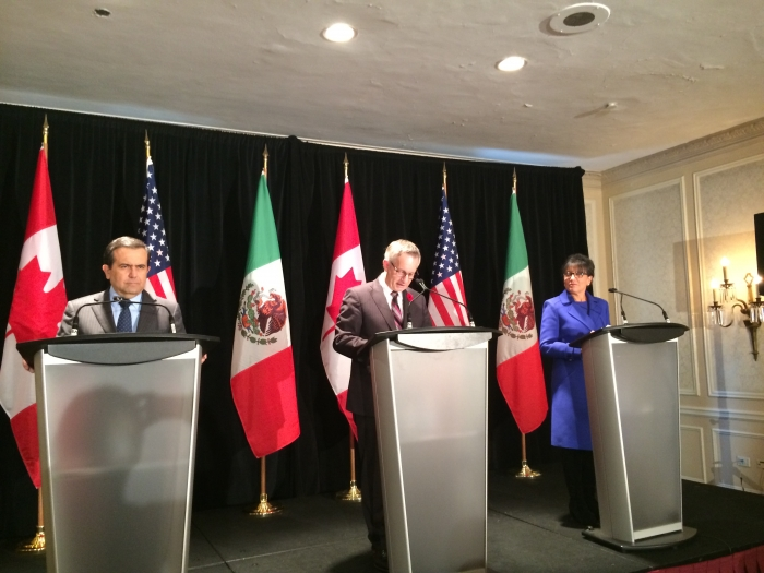 Trilateral press conference with Secretary Ildefonso Guajardo and Minister Ed Fast