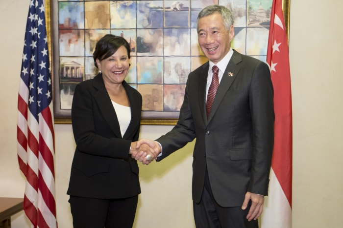 Secretary Pritzker and Prime Minister Lee of Singapore