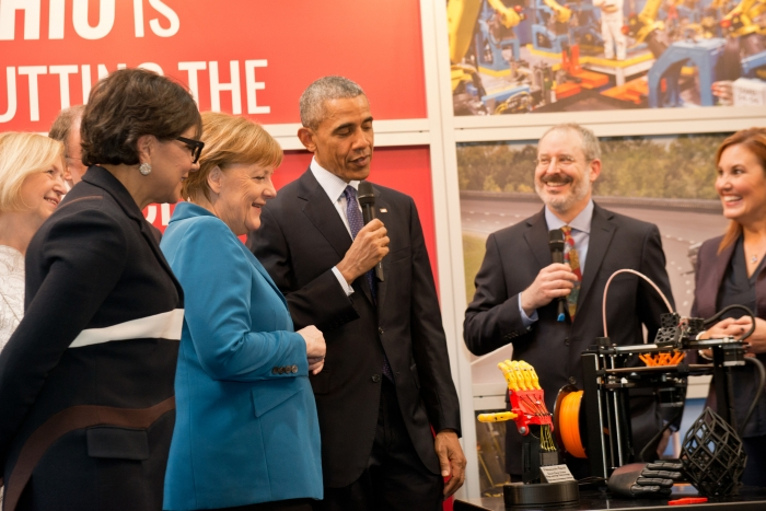 President Obama, Chancellor Merkel, and Secretary Pritzker open the U.S. Investment Pavilion at Hannover Messe