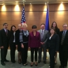 Secretary Pritzker and Commercial Service team in Kyiv, Ukraine