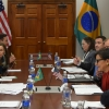 Secretary Pritzker and Brazilian Minister of Development, Industry and Foreign Trade Monteiro speak about the importance of the commercial relationship between the two countries.
