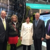 Secretary Pritzker, Deputy Secretary Andrews, and Ambassador Emerson visit Microsoft's booth at Hannover Messe