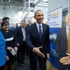 President Obama and Secretary Pritzker at Delaware's Hannover Messe booth
