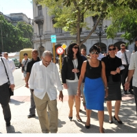 Secretary Pritzker (third from right) touring Old Havana in Cuba