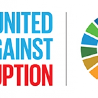 International Corruption Day Logo: United Against Corruption