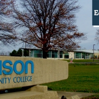 Photo of Edison State Community College in Columbus, Ohio. Edison is preparing students, starting in middle school, for the skills needed to work in the American economy.