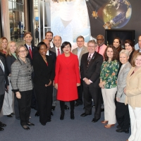 Commerce Secretary Pritzker recognizes NOAA employees for their hard work at the launch of the GOES-R satellite on November 19, 2016.