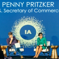 Secretary Pritzker with Kai Ryssdal, host and senior editor of Marketplace, at the Internet Association's Virtuous Circle conference